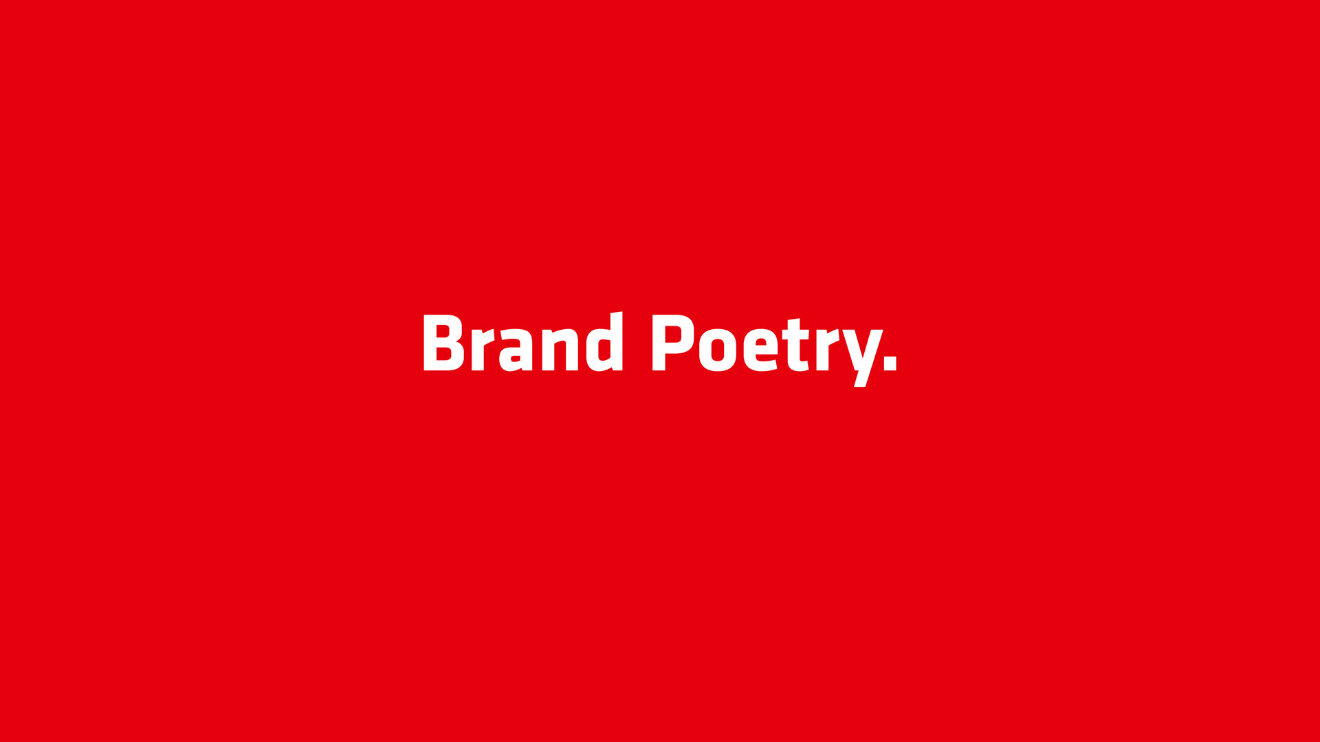 Brand Poetry